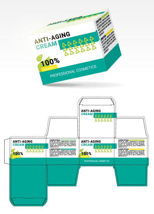 packaging cream box Anti-aging