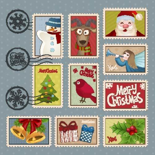 stamps postage christmas
