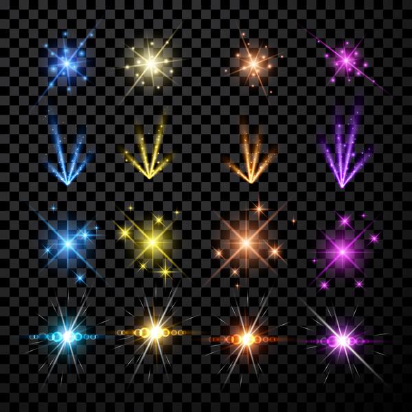 shine lighting effect colorful