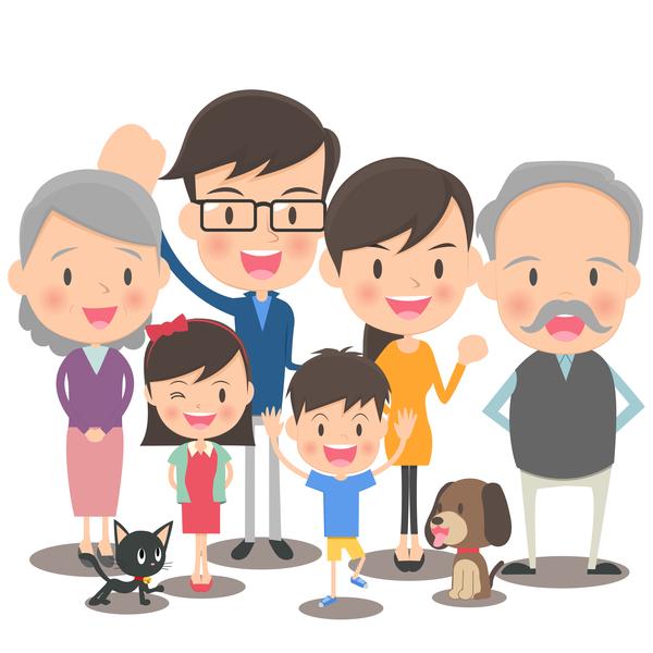 Vectors Download Happy Family Cartoon Illustration Vector 05