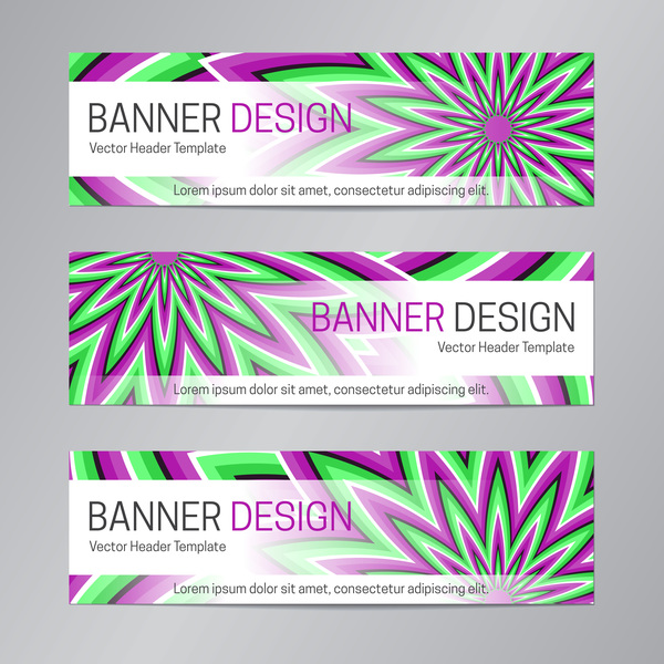 illusion banner vector header template vector 16 - WeLoveSoLo
