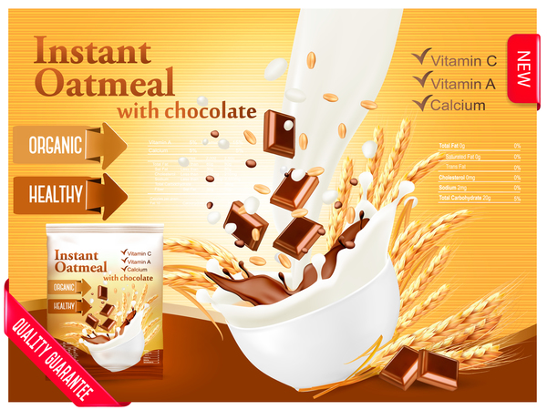 poster oatmeal instant chocolate