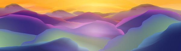 sunrise nature mountain landscape