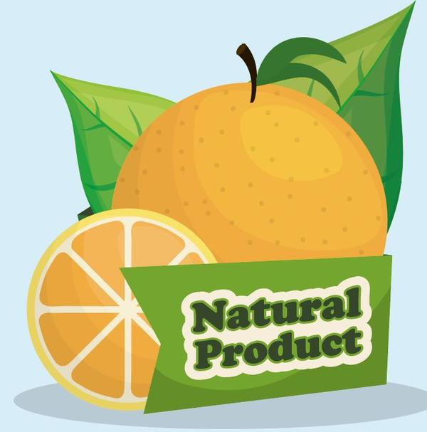 orange natural label