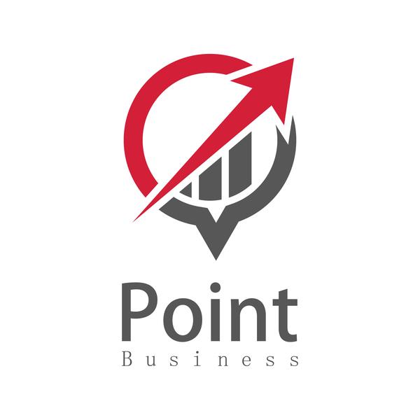 point logo business arow