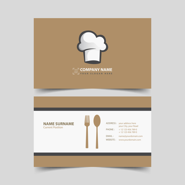 restaurant business card vector - Restaurant Business Card