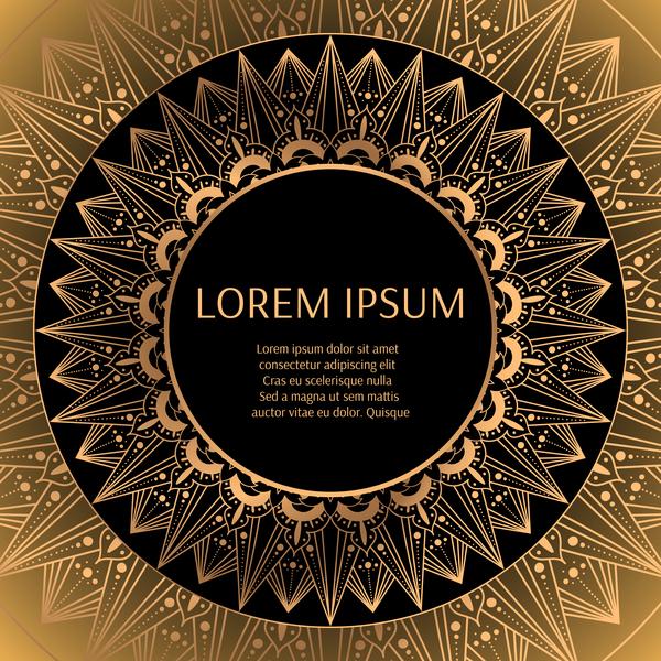 round luxury golden frame