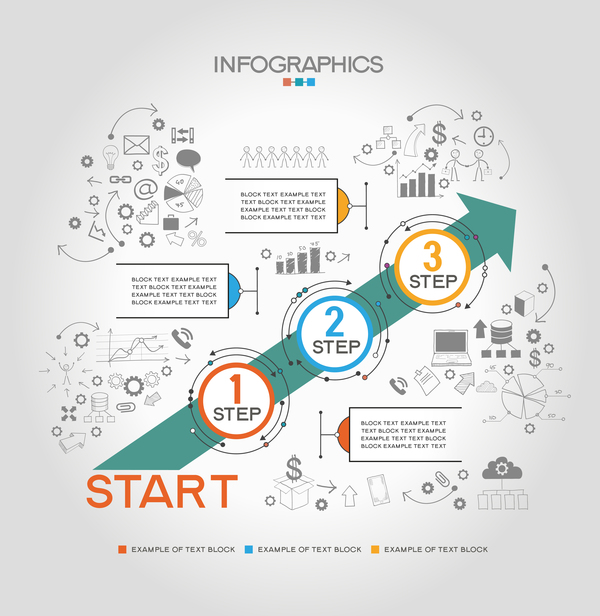 step work infographic template vector welovesolo