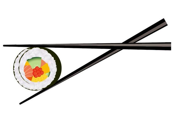 Christbaumkugeln Material.Sushi With Chopsticks Vector Material 05 Welovesolo