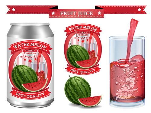 watermelon labels juice