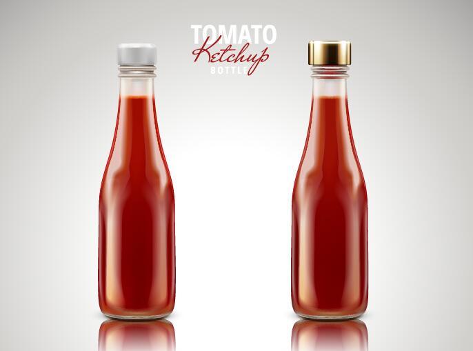 tomat ketchup flaska