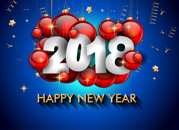 rosso palla Nuovo blu anno 2018