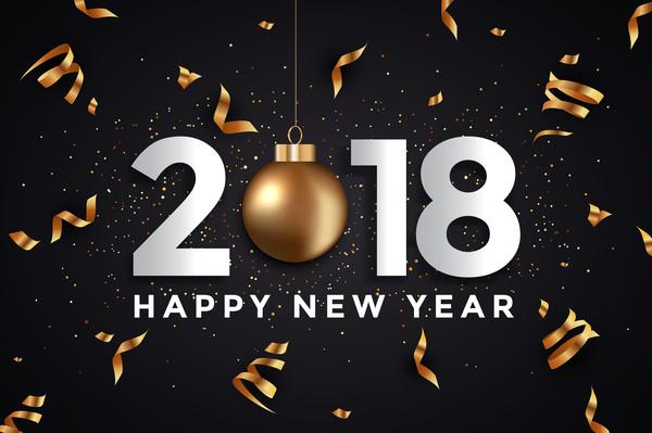、黒の 2018 年、カード、金、新、年