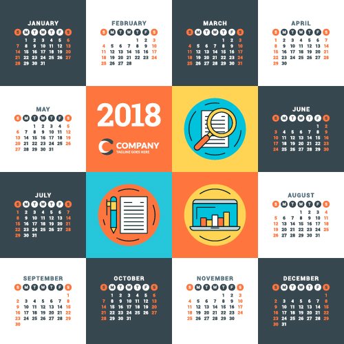 calendrier business 2018