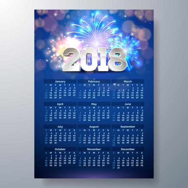 Kalender firwork 2018