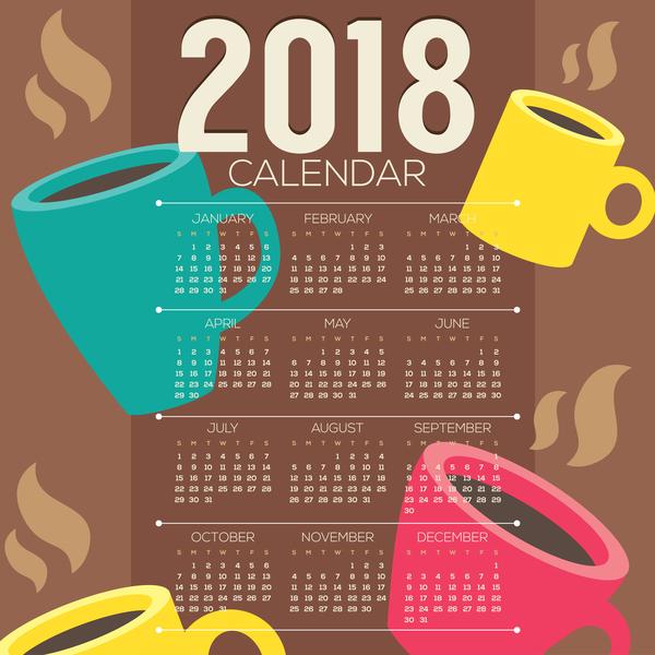 calendrier cafe 2018