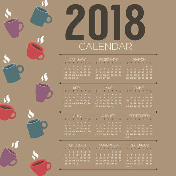 Kalender kaffee 2018
