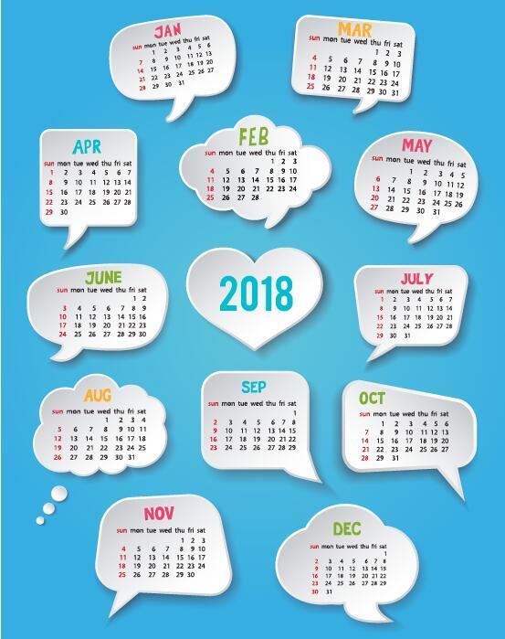 discours calendrier bulles 2018