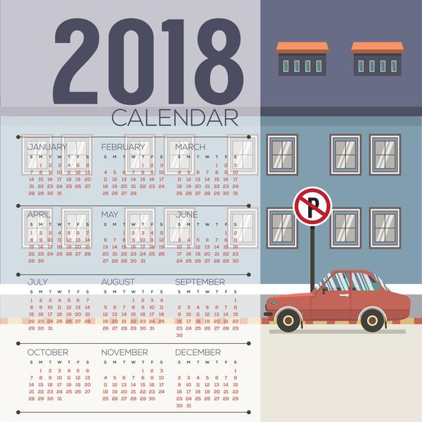 Kalender city 2018