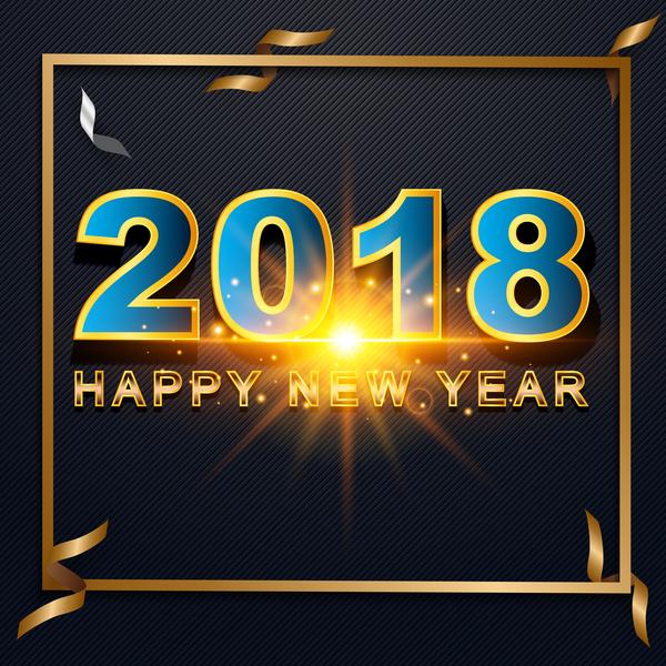 ruban Papier new happy encadrer annee 2018