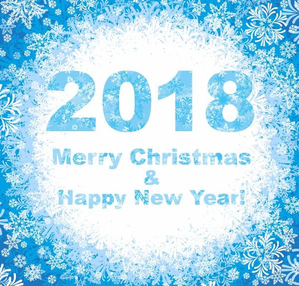 、2018 年にクリスマス、新しい、スノーフレーク、年