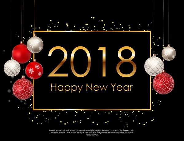 nytt år jul ballong 2018