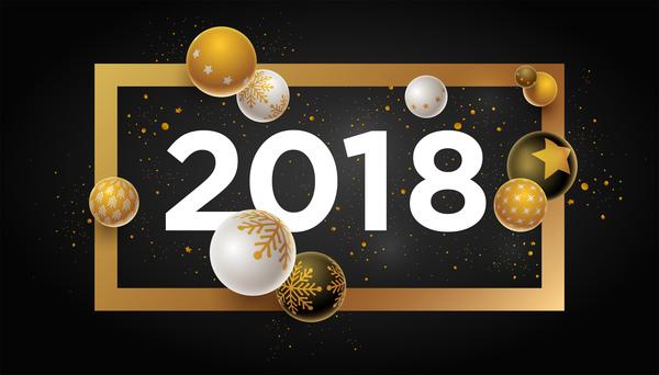 Weihnachten Neu Jahr Christbaumkugeln 2018