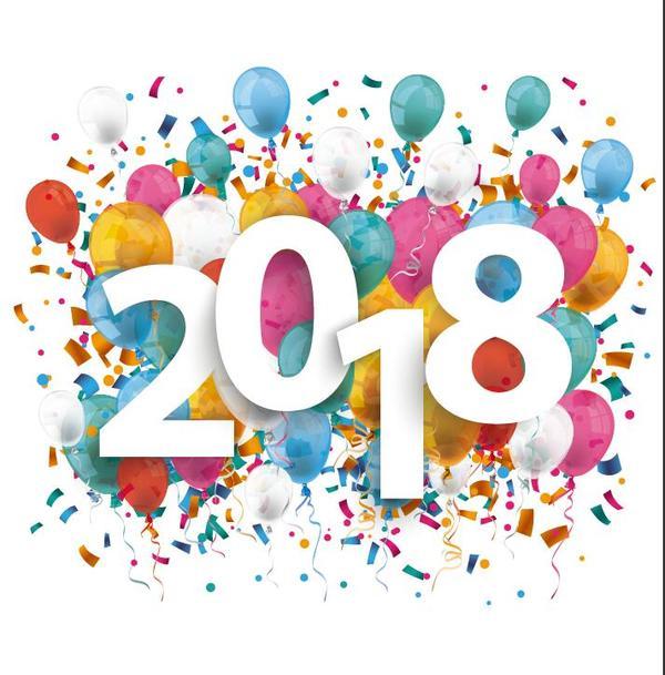palloncini Nuovo coriandoli anno 2018