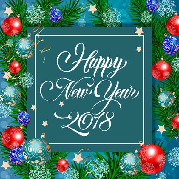 nouveau Noel cartes boules annee 2018