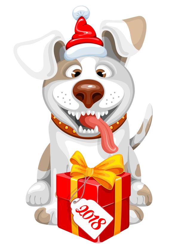 Neu Jahr Hund Geschenk 2018