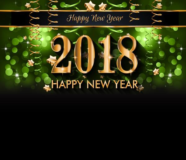 Neu Jahr grün bubble 2018