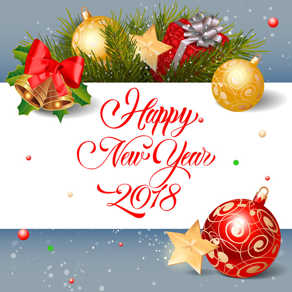 saluto Nuovo Natale decorazioni carta anno 2018