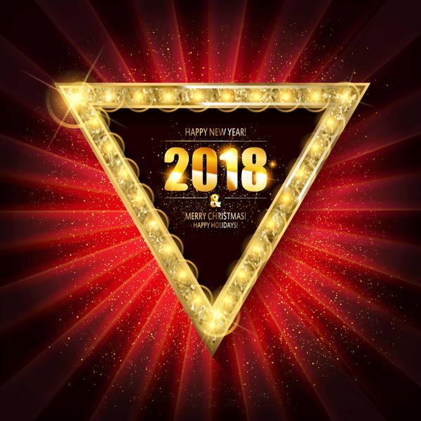 、2018、ネオン、新しい年