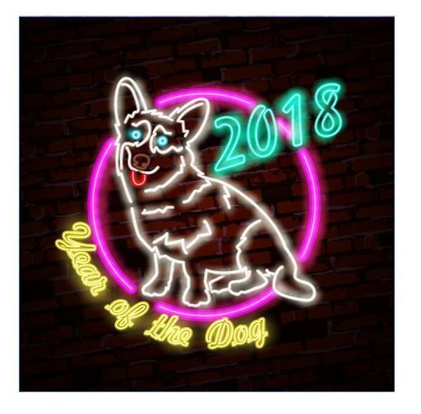signer neuf neon dog annee 2018