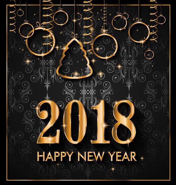 Weihnachten Neu Jahr gold Christbaumkugeln 2018