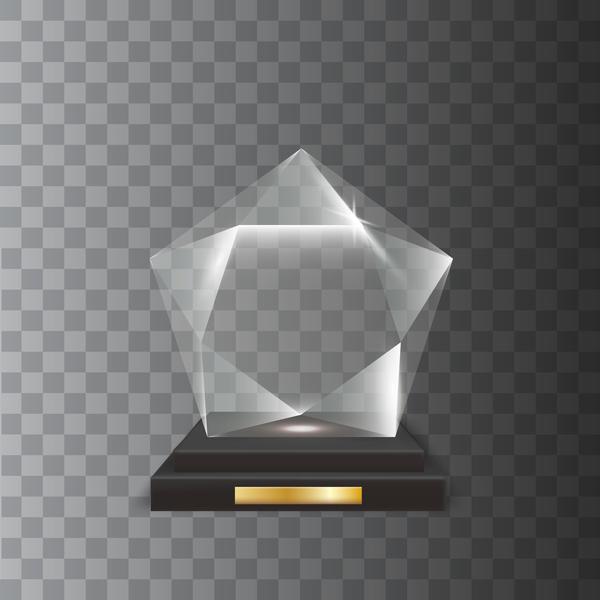 trophy Glas fünfzackigen award Acryl