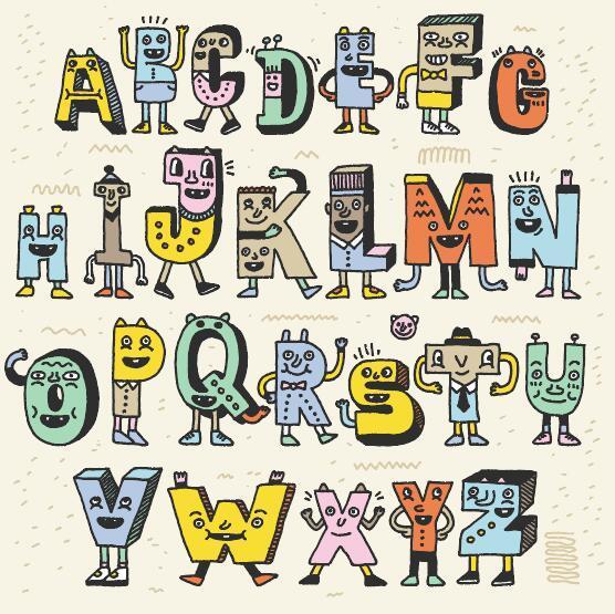 mano disegnata Alfabeto