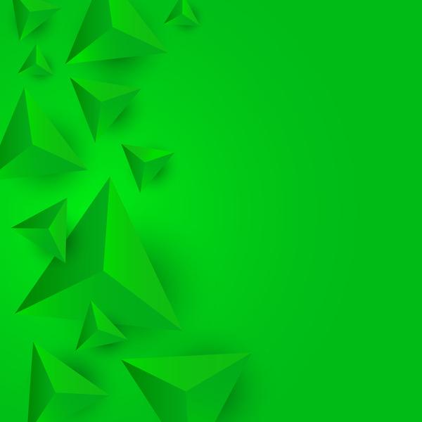 grün Dreieck