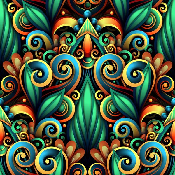 Muster farbig Dekor