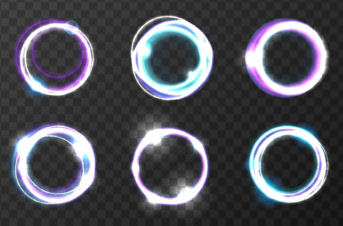 runda ljus Effekt
