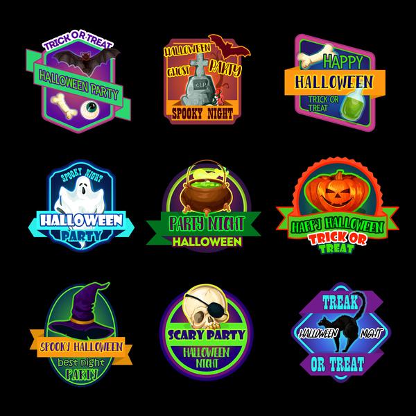 halloween etichette adesivi