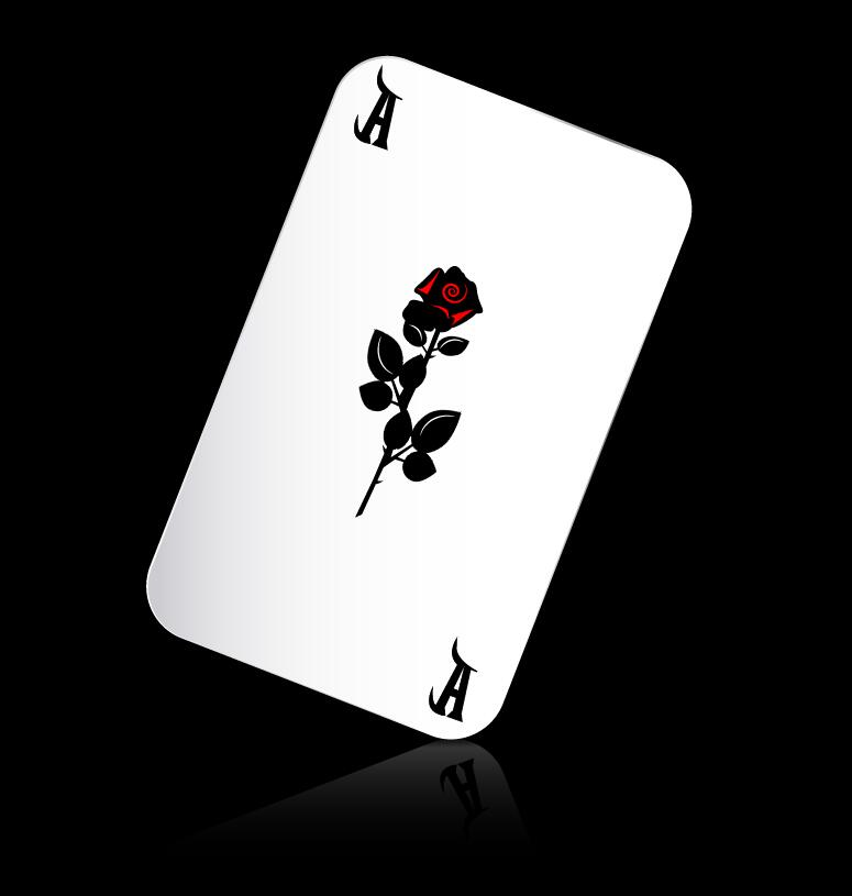 playing cards black