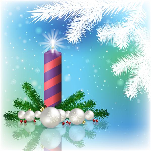 Noel decorations bleu Abstrait