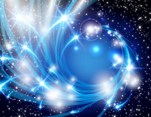 lumière étoiles Éléments bleus Abstrait