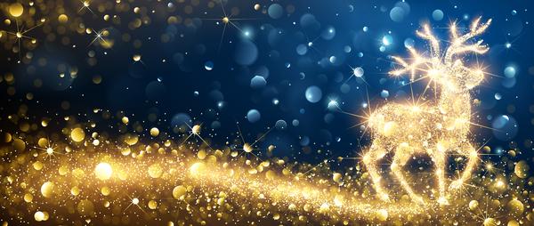 Weihnachten rentier bright Abstrakt