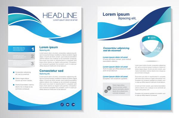 lock flyer business broschyr Abstrakt