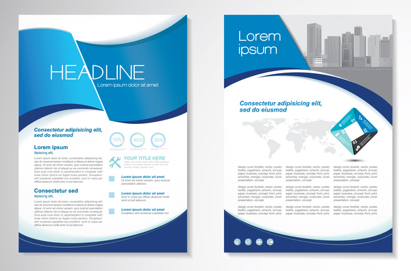 resume flyer couverture business brochure