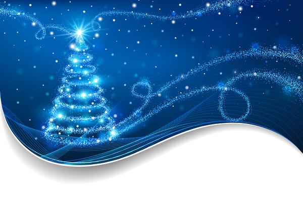 Weihnachten Karte Baum Abstrakt
