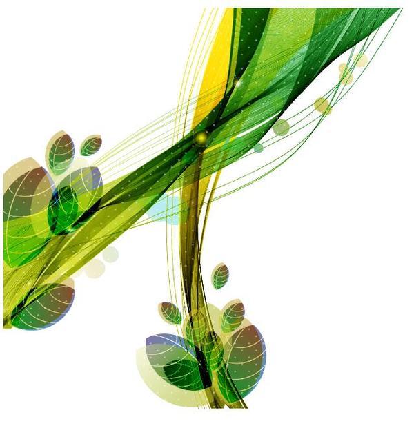 vague feuilles de couleur