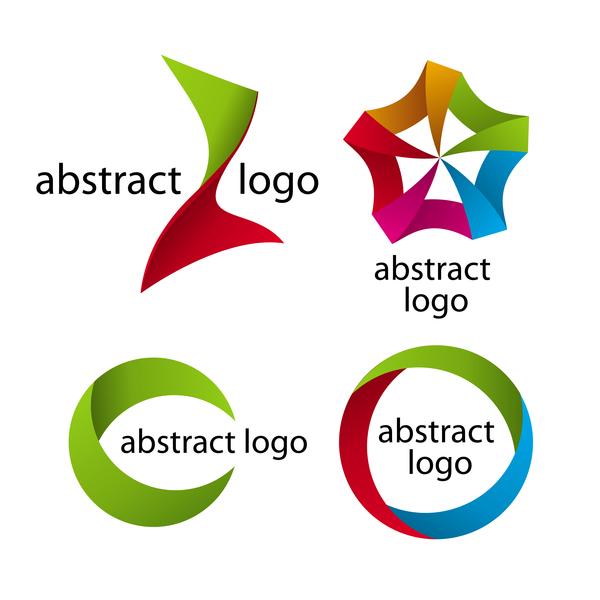 色付き 抽象的な ロゴ